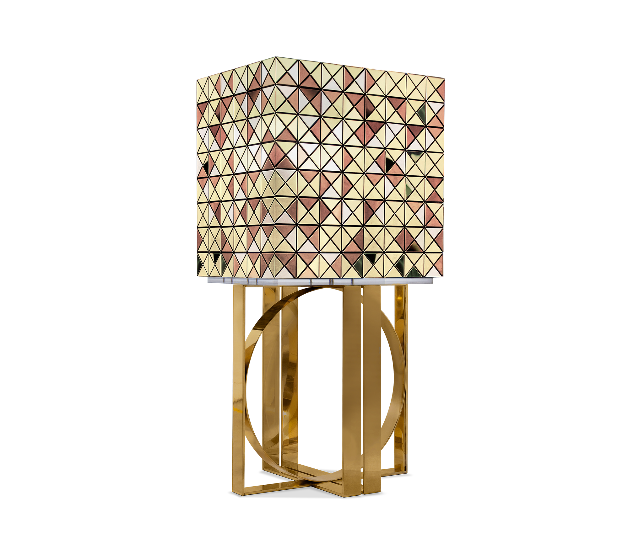Pixel Anodized Gold Legs Cabinet by Boca do Lobo