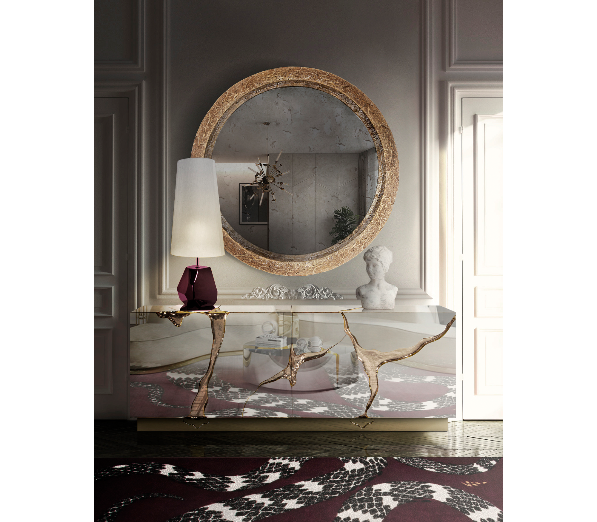 Ring Filigree II Mirror by Boca do Lobo