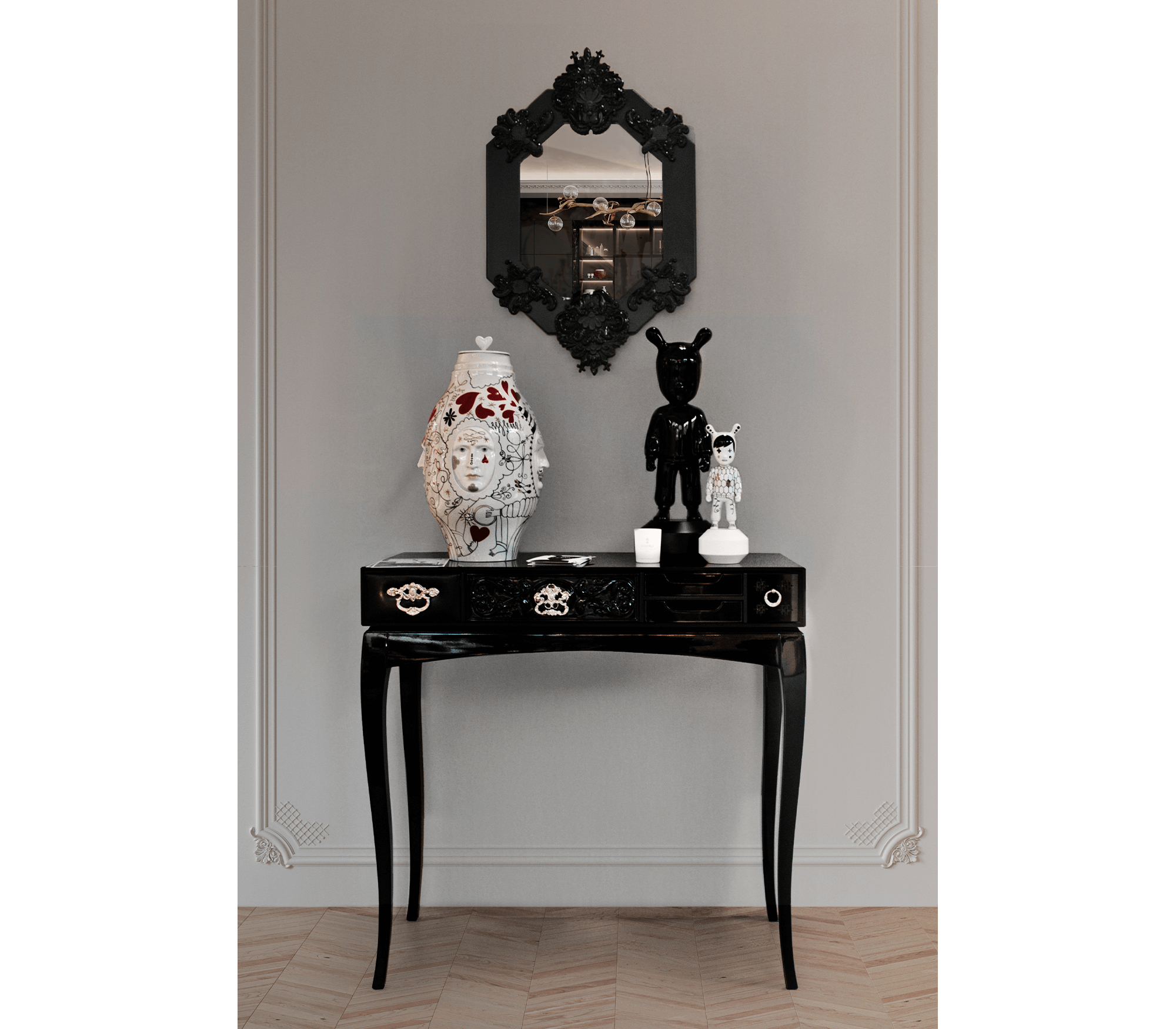 Soho Black Console by Boca do Lobo