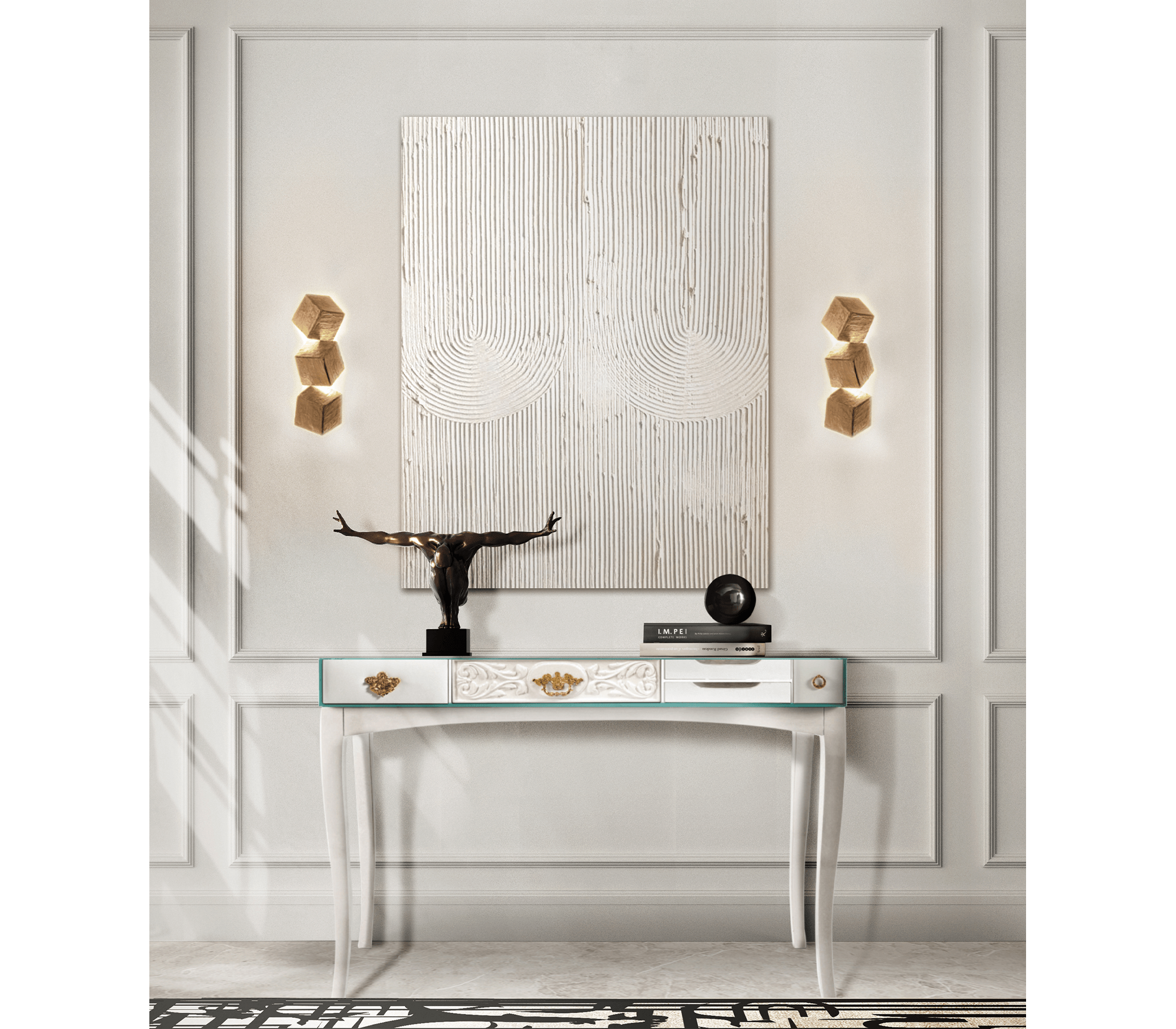 Soho White Console by Boca do Lobo