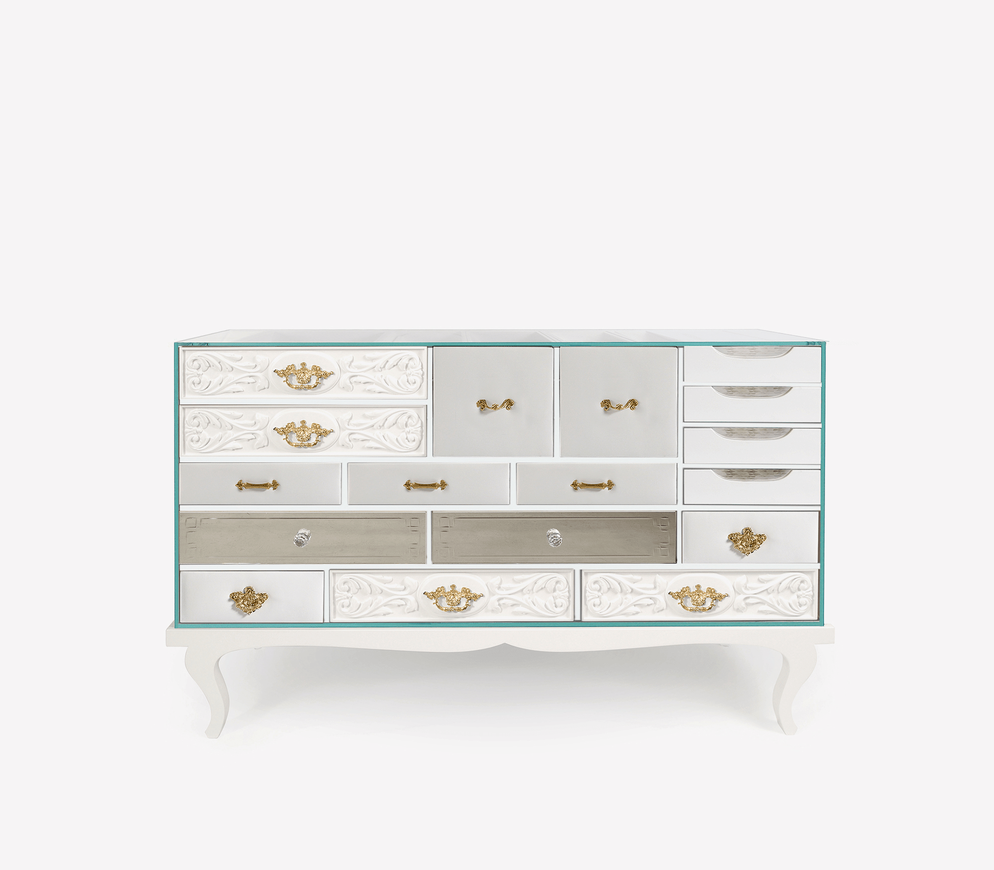 Soho White Sideboard by Boca do Lobo