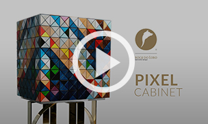 Cabinet Pixel Wood by Boca do Lobo