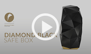 The Diamond Black Safe Box by Boca do lobo