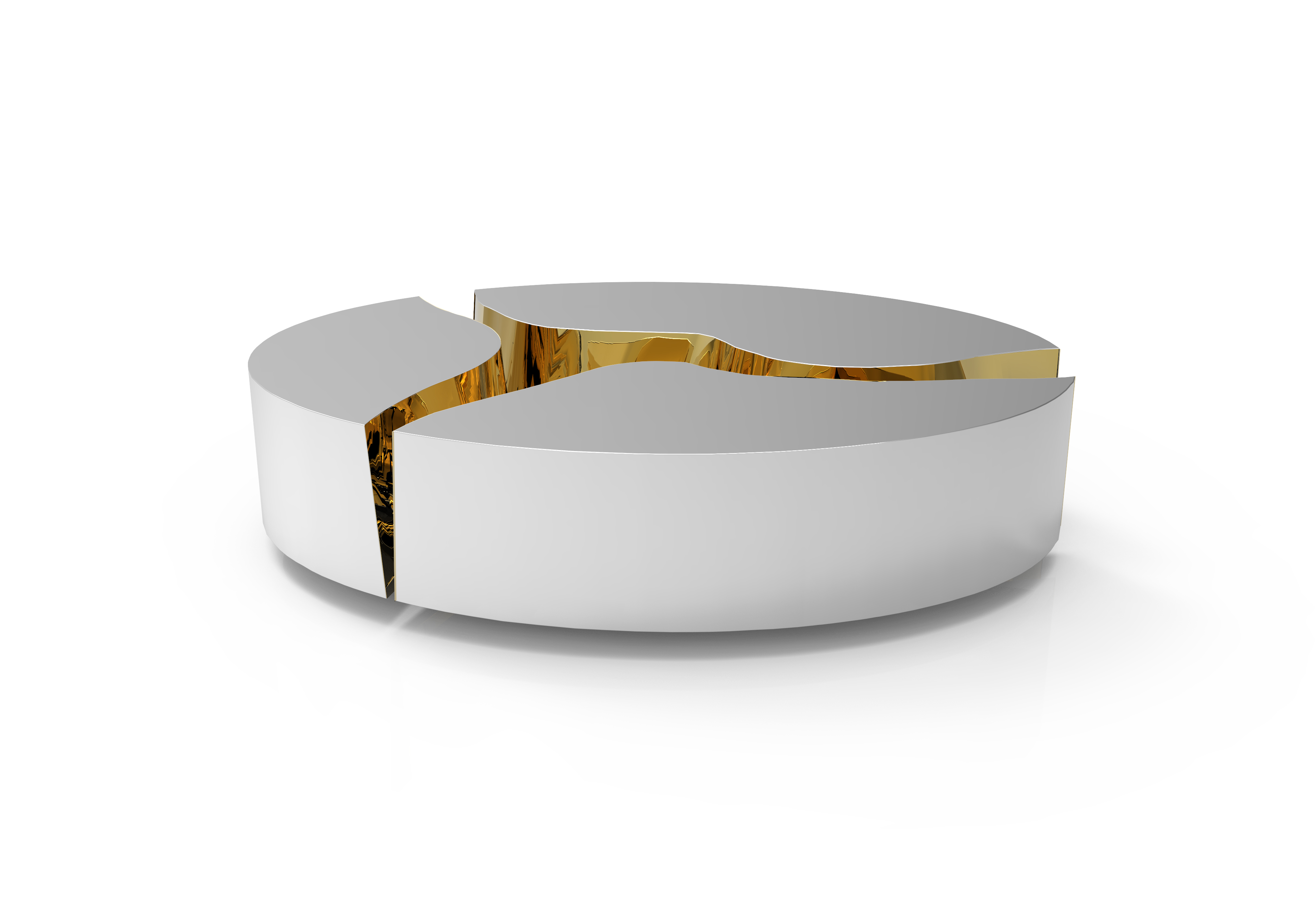 Top 5 Luxus Couchtische mit moderem Design Kaffeetische Top 5 Luxus Kaffeetische mit moderem Design lapiaz oval inox 02